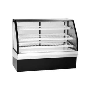 Federal 77 Curved Glass Deli Display Case Cooler Refrigerated - ECGR77CD