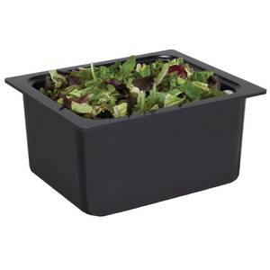 San Jamar Chill-It 1/2 Size Food Pan Black NSF - CI7004BK