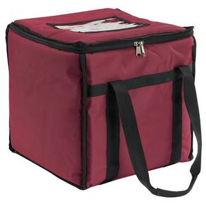 San Jamar 12x12x12 Insulated Food Carrier Burgundy - FC1212-MRN