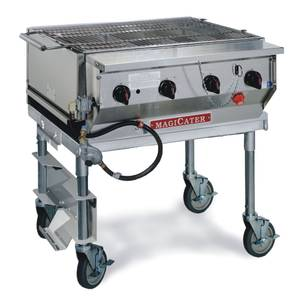 Magikitch'n MCSS-30 30 S/S Magicater Transportable Gas Grill w/ 20 Lb. Holder
