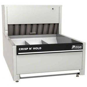 Pitco PCC-18 3-Bay Crisp N' Hold Countertop Crispy Food Station