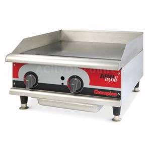 APW Wyott GGT-24H Champion 24 Countertop Thermostatic Griddle Natural Gas