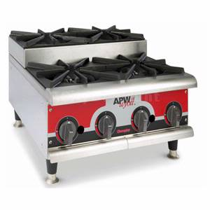 APW Wyott GHPS-6H Champion 36 Nat Gas Manual Hot Plate Step-Up w/ 6 Burners