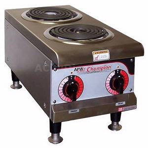 APW Wyott EHP Champion 12 Countertop Electric Hot Plate 2 Spiral Burners