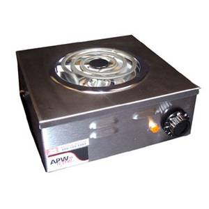 APW Wyott CP-1A Champion 11 Portable Electric Hot Plate S/s with 1 Burner