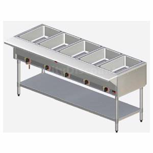 APW Wyott Electric 3 Sealed Well Hot Food Steam Table with S/s Legs - SST-3S