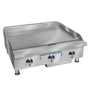 Bakers Pride Heavy Duty 80 kBTU 24 Manual Countertop Griddle - BPHMG-2424I