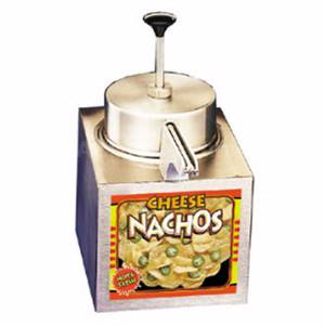 APW Wyott Lighted 4 Quart Nacho Cheese Warmer with Pump Stainless - LCCW