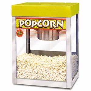 APW Wyott PC-1A 10oz Stainless Popcorn Popper with Heat Lamp Countertop 120v