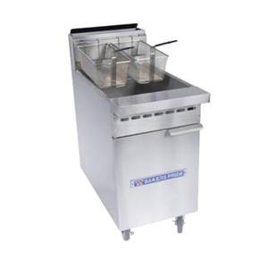 Bakers Pride Floor Model 50 LB. Capacity 114 kBTU Deep Fryer - BPF-4050