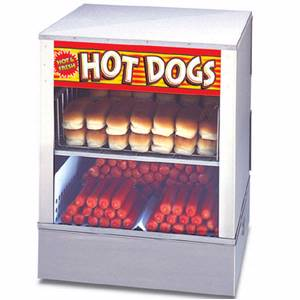 APW Wyott Mr. Frank Hot Dog Steamer Holds 150 Hot Dogs 60 Buns - DS-1A