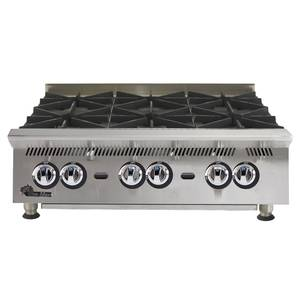 Star 806HA Ultra-Max 6 Burner 180kBTU Countertop Gas Hot Plate