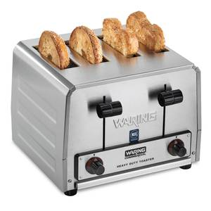 Waring WCT815B 4 Slot Combination Toaster 208v Heavy Duty 380 Slices/hr