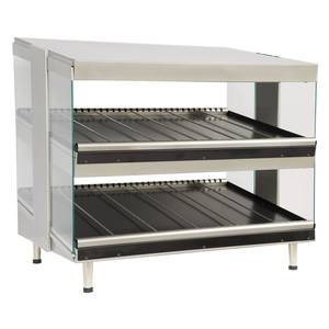 Star HWC36S2 Dual Shelf 36 Wide Heatwave Slanted Food Merchandiser