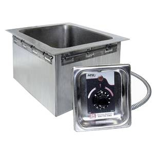 APW Wyott 1 Well Hot Food Unit Drop-In Top Mount - No Drain - HFW-1