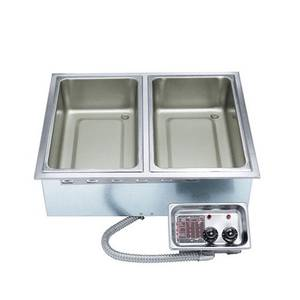 APW Wyott 2 Well Hot Food Unit Drop-In Top Mount 208/240v - No Drain - HFW-2