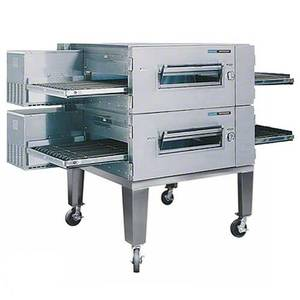 Lincoln 1600-FB2G 80 Digital Gas FastBake Conveyor Oven Package Double Stack