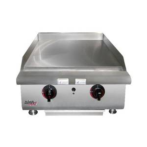 APW Wyott 36 Manual Heavy Duty Griddle Nat Gas Countertop 120,000 BTU - HMG-2436