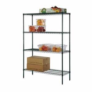 Focus Foodservice 18x36x74 Four-Tier Green Epoxy Shelving Kit - FK183674GN