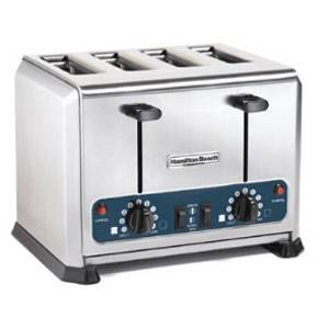 Hamilton Beach 4 Slot Pop-Up Bread Bagel Toaster 208/240v 400 Slices/hr - HTS455