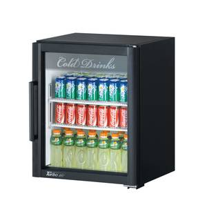 Turbo Air 5.9cf Countertop Merchandiser Cooler Glass Door 2 Shelves - TGM-5SD