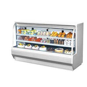 Turbo Air TCDD-96-4-H 96.5 High Profile Curved Glass Deli Case Cooler 4 Shelves