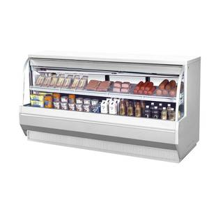 Turbo Air 96.5 Low Profile Deli Case Cooler Curved Glass 2 Shelves - TCDD-96-4-L