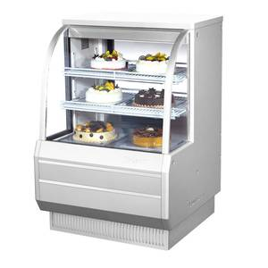 Turbo Air TCGB-36-2 36.5in Refrigerated Bakery Display Case Cooler Curved Glass