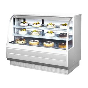 Turbo Air 60.5in Refrigerated Bakery Display Case Cooler Curved Glass - TCGB-60-2