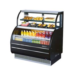 Turbo Air TOM-W-50SB 51in Open Display Refrigerator Combination Merchandiser Case