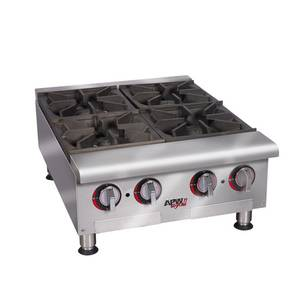 APW Wyott HHP-636 36 Heavy Duty Flat Hot Plate Countertop 6 Burners Nat Gas