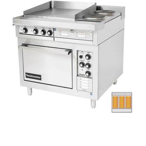 Toastmaster 36 Electric Range w/ Convection Oven & (3) 12 Hotplates - TRE36C1