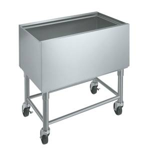 Krowne Metal MB-1830 30 W Mobile Insulated Underbar Ice Bin Stainless 12 Depth