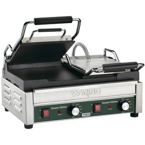 Waring WFG300 Dual Sandwich Toasting Grill 17 x 9.25 Flat Plates 240v