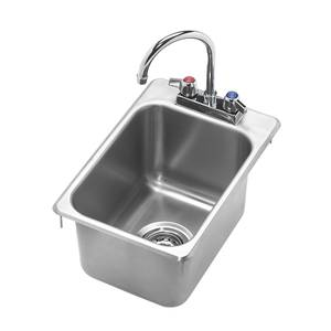 Krowne Metal 12 x 18 Drop-In Hand Sink w/ 6 Gooseneck Spout Faucet - HS-1419