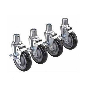 Krowne Metal 28-151S Universal Wire Shelving Caster 5 Wheel with Brake Set of 4