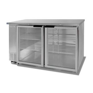 Beverage-Air 23.8 CuFt Two-Section S/S Backbar Glass Door Cooler - BB58G-1-S