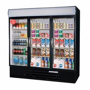 Beverage-Air 72 CuFt MarketMax Three-Door Reach-In Cooler w/ LED Lighting - MMR72-1-*-LED