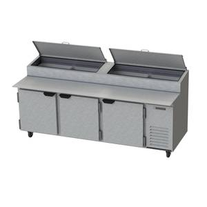 Beverage-Air DP93 39.8 CuFt 93 Three Section Refrigerated Pizza Prep Table