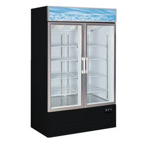 Alamo Refrigeration D768BMF 25 CuFt Glass Two Door Freezer Merchandiser