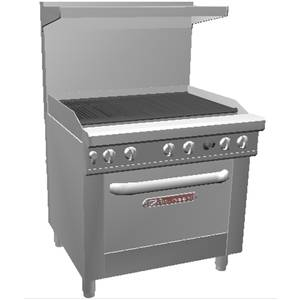Southbend 436A-3C Ultimate Series Range - 36 Charbroiler w/ Conv. Oven Base