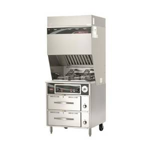 Wells Ventless Electric Dual Fryer w/ Auto-Lifts, 2 Drawer Warmer - WVF-886RW