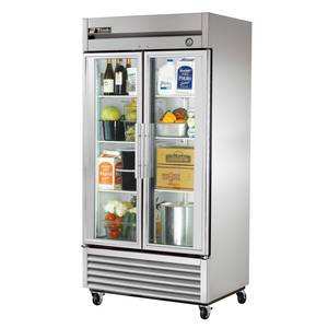 True 35 Cu. Ft. Reach In Refrigerator with Glass Doors - T-35G