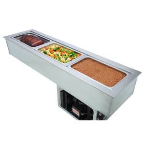 Wells Built-In Slim Line 3-Bay Hot & Cold Counter Food Well - HRCP-7300SL