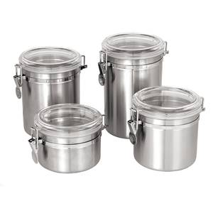 Update 70oz Stainless Steel Storage Canister w/ Plastic Lid - CAN-8AC