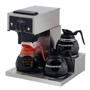 Bloomfield Low Profile Koffee King Three Warmer Pour-Over Coffee Brewer - 8571-D3