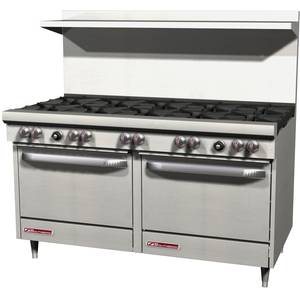 Southbend S60AA S-Series 60 Range w/ 10 Burner & 2 Convection Ovens