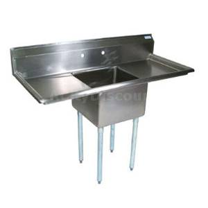 John Boos E1S8-1620-12T18 1 Compartment Sink 16 x 20 x 12 Bowl Two 18 Drainboards