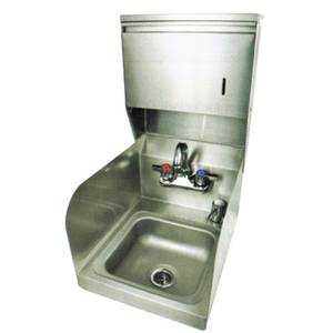 John Boos PBHS-99-P-SSTD 9 x 9 x 5 Hand Sink w/ Faucet and Soap & Towel Dispenser