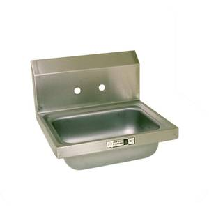 John Boos PBHS-W-1410 14 x 10 x 5 Wall Mount Hand Sink w/ 4 Center